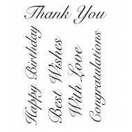 Little Greetings Rubber Stamp Set