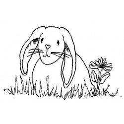 Spring Bunny Rubber Stamp