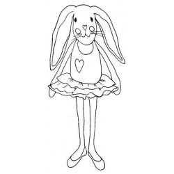 Ballerina Bunny Rubber Stamp