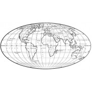 World Map Rubber Stamp