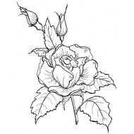Large Rose Rubber Stamp