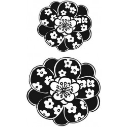 Japanese Blooms Rubber Stamp
