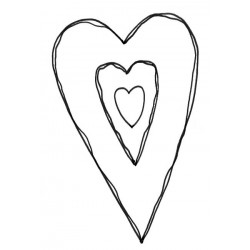 Big Heart Rubber Stamp