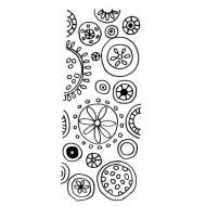 Flower Pop Panel Rubber Stamp