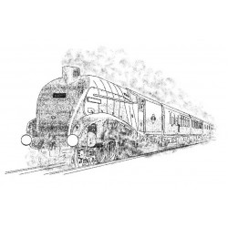 Steam Train Rubber Stamp