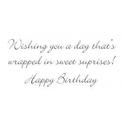 Wishing you . . . Happy Birthday Rubber Stamp