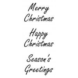 Christmas Greetings Rubber Stamp Set