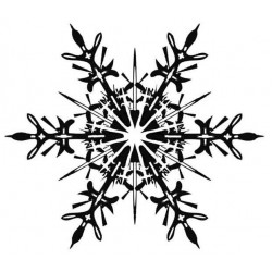 Stunning Snowflake Small Rubber Stamp