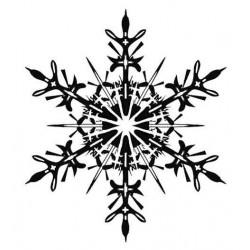 Stunning Snowflake Large Rubber Stamp