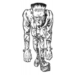 Frankenstein Halloween Rubber Stamp
