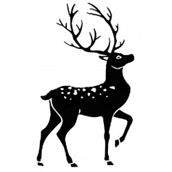 Stag Silhouette Large Rubber Stamp