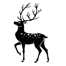 Stag Silhouette Small Rubber Stamp
