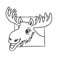 Mini Moose Rubber Stamp