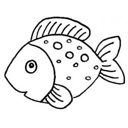 Goldie the Fish Rubber Stamp