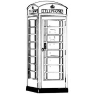 Telephone Box Rubber Stamp