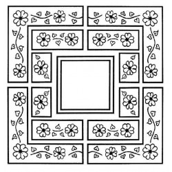 Daisy Multi-Layered Frame Rubber Stamp