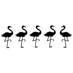 Flamingo border Rubber Stamp