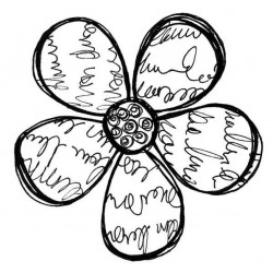 Large Scriptilicious Bloom Rubber Stamp