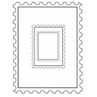 Postage Frames Set of 3 Rubber Stamps