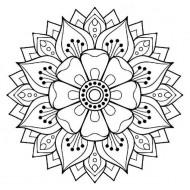 Fancy Flower Rubber Stamp