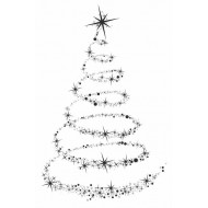 Star Tree Cling Rubber Stamp