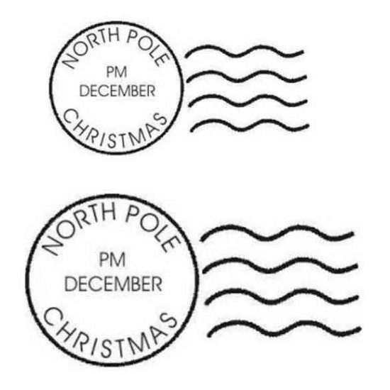 Christmas Postmarks Rubber Stamps