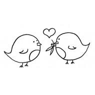 Robin Love Rubber Stamp