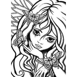 Fairy Fae Unmounted Rubber Stamp
