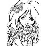 Butterfly Bliss ATC Unmounted Rubber Stamp