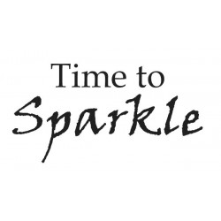 Time to Sparkle Rubber Stamp