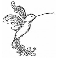 Emilys Hummingbird Rubber Stamp