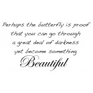Beautiful Butterfly Sentiment Rubber Stamp