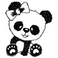 Pretty Panda Rubber Stamp