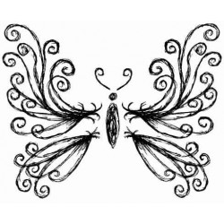 Emilys Butterfly Rubber Stamp