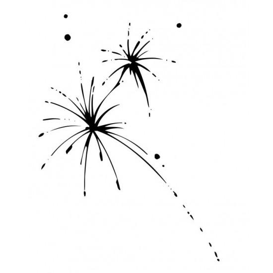 Big Bang Fireworks Rubber Stamp