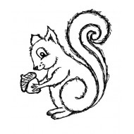 Sammy Squirrel Rubber Stamp
