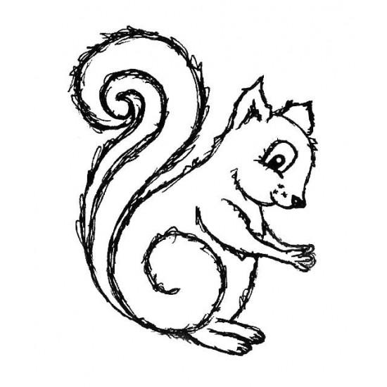 Sophie Squirrel Rubber Stamp