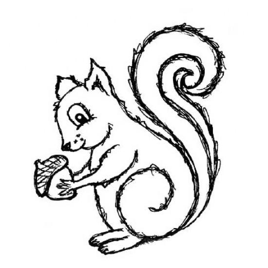 Sasha Squirrel Rubber Stamp