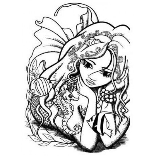 Marina Mermaid Unmounted Rubber Stamp