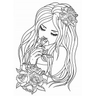 Rosalee Unmounted Rubber Stamp