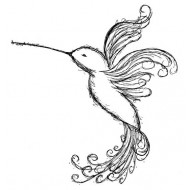 Emily's Hummingbird Small Rubber Stamp