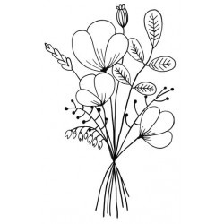 Wildflower Posy Rubber Stamp