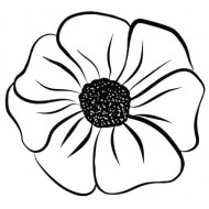 Ayana Medium Flower Rubber Stamp