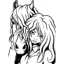 Friends Forever Horse Rubber Stamp