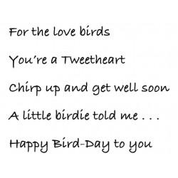 Bird Words Rubber Stamp Set