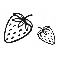 Strawberries Rubber Stamp