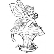 Fearless Fairy on Toadstool Rubber Stamp