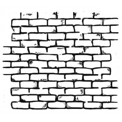 Brickwork Small Rubber stamp