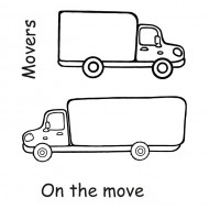 Moving Trucks Rubber Stamps