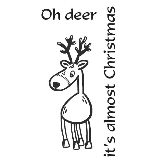 Oh deer cling mounted rubber stamps